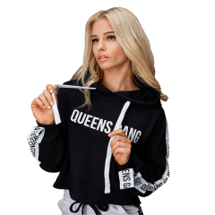 WOMEN`S HOODIE CROPPED GUILTY BLACK