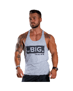 MEN'S TANK TOP GO BIG OR GO HOME LIGHT MELANGE - Olimp Laboratories