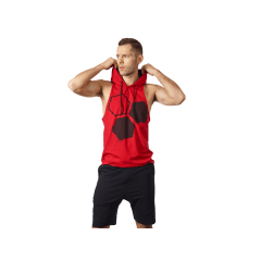 MEN'S HOODIE STRINGER CLASSIC RED - Olimp Laboratories