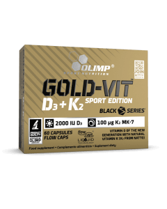 Gold-Vit D3+K2 SPORT EDITION - 60 gélules - Olimp Laboratories