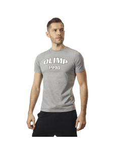 MĘSKA KOSZULKA OLIMP – MEN'S T-SHIRT 1990 GREY MELANGE - Olimp Laboratories