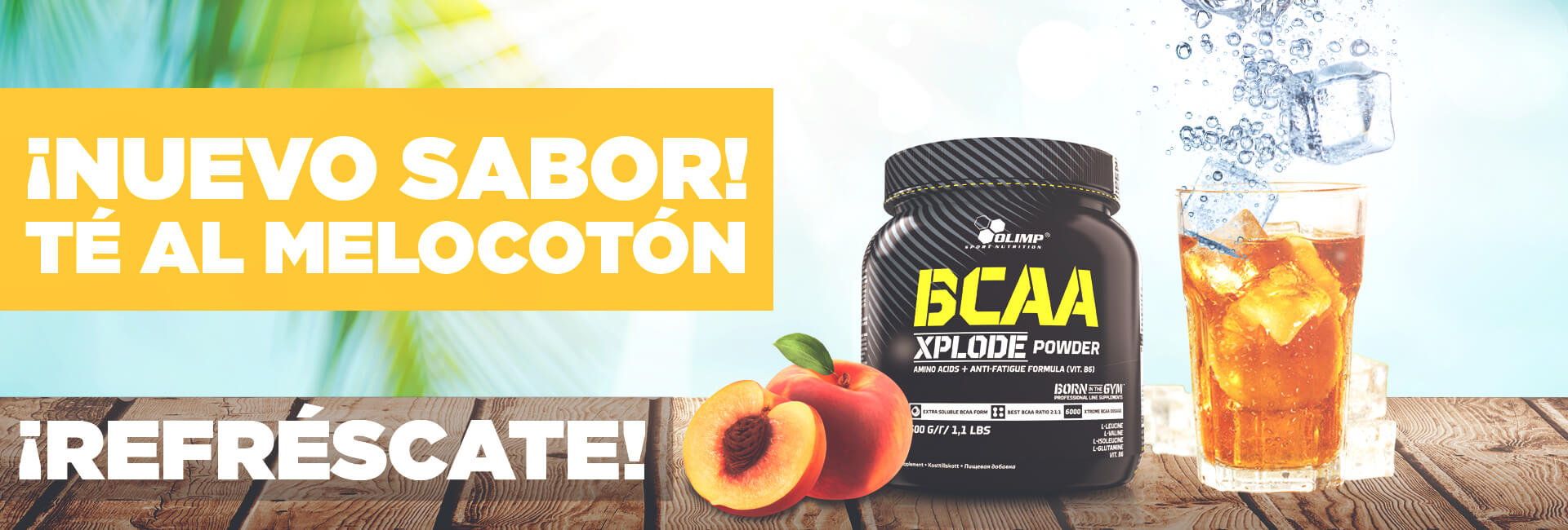 BCAA XPLODE ICE TEA PEACH