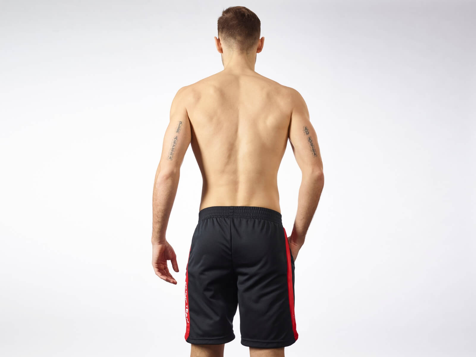 MEN'S SHORTS WORKOUT OLIMP BLACK & RED
