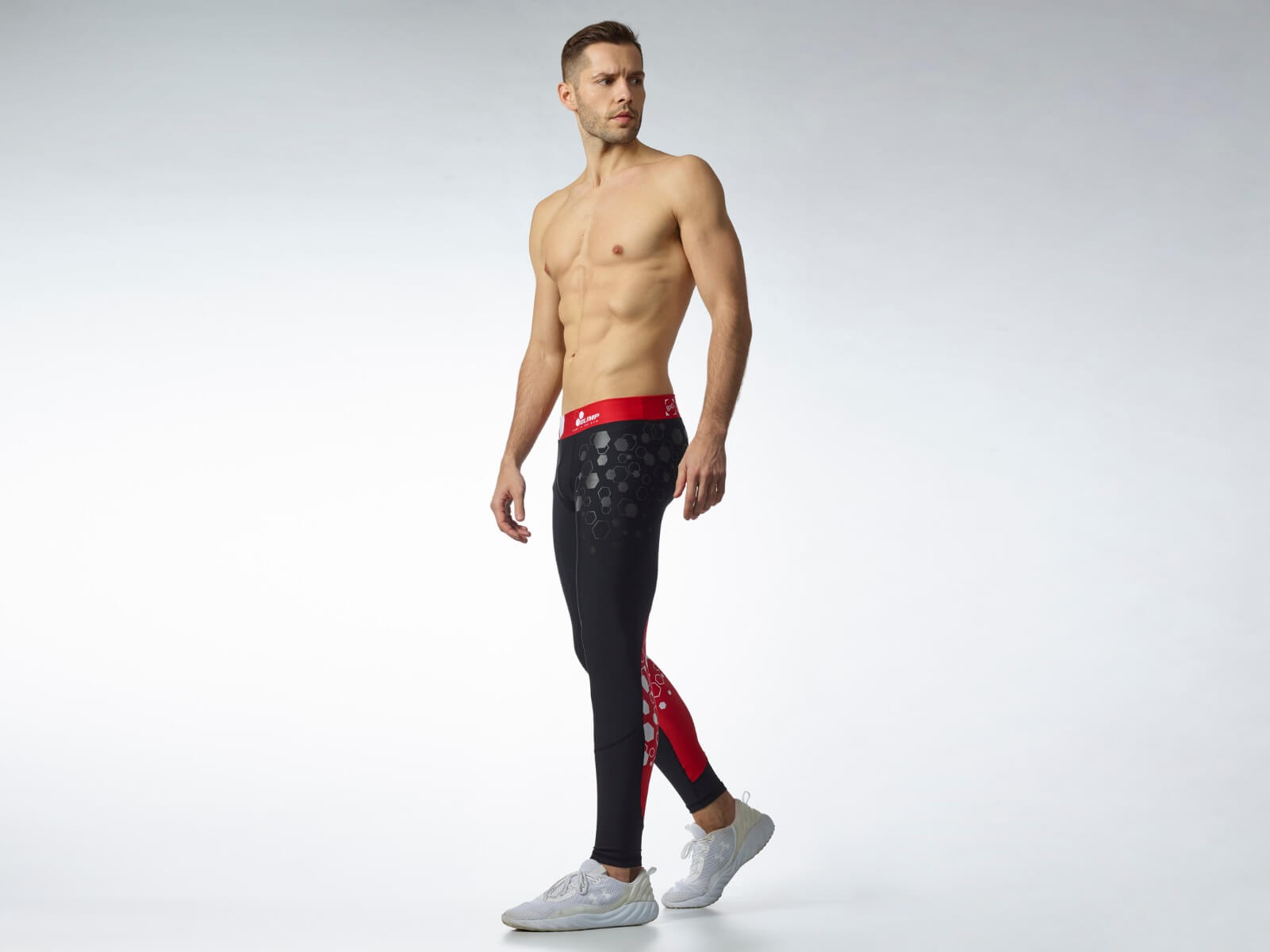 Men's Leggings Worokout Black & Red