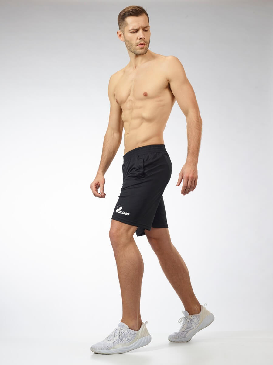 MEN'S SHORTS WORKOUT OLIMP BLACK & WHITE