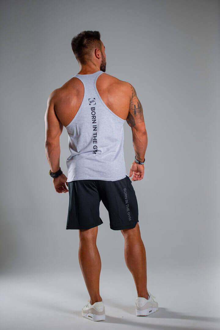 Men's Tank Top Go BiG or Go Home Light Melange