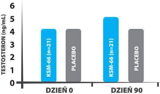 Poziom testosteronu wykres