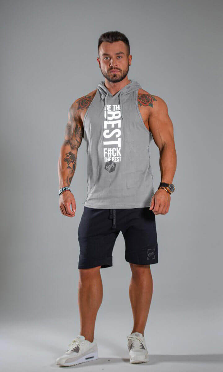 MEN'S STRINGER HOODIE classic Light Melange