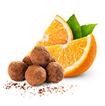 truffle with orange
